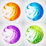 Wektorowego colour sfery abstrakcjonistyczny set Zdjęcia Royalty Free