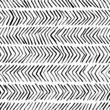 Wektorowego czarnego białego herringbone bezszwowy wzór Akwarela, atramentu tło Skandynawski projekt, moda tekstylny druk royalty ilustracja