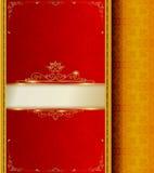 Wektorowego czerwieni ramy wzoru tajlandzki styl Obraz Royalty Free