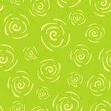Wektorowego doodle bezszwowy wzór z kwiatami Obrazy Royalty Free
