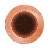 Wektorowego drelichu brązu szwalny guzik w rocznika stylu Fotografia Stock