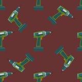 Wektorowego elektrycznego śrubokrętu bezszwowy wzór Obraz Royalty Free