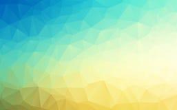 Wektorowego Geometrical wieloboka tła abstrakcjonistyczny błękit piaska kolor Obrazy Stock