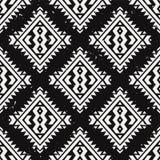 Wektorowego grunge monochromatyczny bezszwowy dekoracyjny etniczny wzór Fotografia Royalty Free