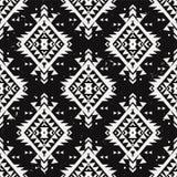 Wektorowego grunge monochromatyczny bezszwowy dekoracyjny etniczny wzór Zdjęcie Stock