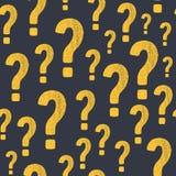 Wektorowego grunge znaka zapytania bezszwowy wzór Fotografia Stock