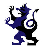Wektorowego gryfa bestii symbolu heraldyczny grzebień lub żakiet ręki zwierzęce ilustracji