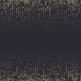 Wektorowego halftone abstrakcjonistyczny tło, czarna złocista gradientowa gradacja Geometryczny mozaika trójbok kształtuje monoch ilustracja wektor