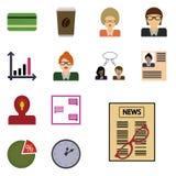 Wektorowego ikony revenue/ikon revenue/Płaskie ikony ustawiają revenue/ikony gazetę, szkła, Zdjęcia Royalty Free
