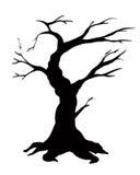 Wektorowego illustartion drzewna sylwetka odizolowywająca na bielu Zdjęcie Royalty Free
