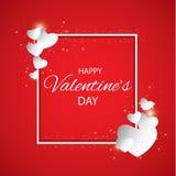 Wektorowego ilustracyjnego ard walentynek Szczęśliwy dzień serca czerwoni Tło z sercami Sieci grafika, sztandary, reklamy ilustracja wektor