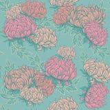 Wektorowego ilustracyjnego rocznika bezszwowy wzór dla retro tapet z kwiatami Fotografia Stock