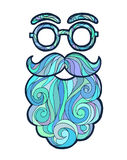 Wektorowego ilustracyjnego wąsy modny modniś ilustracja wektor
