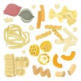 Wektorowego ilustracyjnego Włoskiego makaronu jedzenia ustalona ikona zdjęcie stock