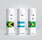 Wektorowego infographic Nowożytnego pudełkowatego krajowego projekta Minimalny styl Fotografia Stock