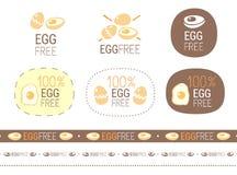 Wektorowego jajka znaka bezpłatny set Fotografia Stock
