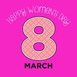 Wektorowego kobiety ` s dnia powitania dekoraci abstrakcjonistyczna minimalna karta Zdjęcie Royalty Free