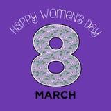Wektorowego kobiety ` s dnia powitania dekoraci abstrakcjonistyczna minimalna karta Fotografia Royalty Free