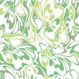 Wektorowego koloru bezszwowego zawijasa trawy oliwny tło Zielony abstra Obrazy Royalty Free