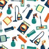 Wektorowego koloru bezszwowy wzór cleaning usługa Fotografia Stock