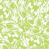 Wektorowego koloru zawijasa oliwki bezszwowy tło Zielony abstrakcjonistyczny flo Obrazy Stock