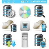 Wektorowego komputeru ikony Ustawiają 4 Zdjęcia Royalty Free