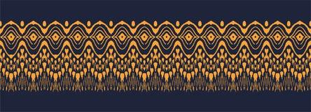 Wektorowego krawata barwidła bezszwowy wzór Ręka rysujący shibori druk z lampasami Atrament textured japoński tło royalty ilustracja