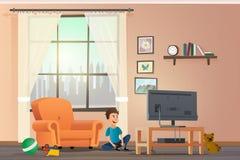 Wektorowego kreskówki Ilustracyjnego pojęcia Szczęśliwi dzieci ilustracja wektor