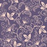 Wektorowego kwiatu bezszwowy deseniowy element Elegancka tekstura dla tło Klasyczny luksusowy staromodny kwiecisty ornament royalty ilustracja