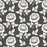 Wektorowego kwiatu bezszwowy deseniowy tło z antycznym tekstem Elegancka tekstura dla tło ilustracji