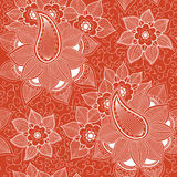 Wektorowego kwiatu bezszwowy wzór Ilustracji