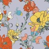 Wektorowego kwiatu bezszwowy wzór Zdjęcia Royalty Free