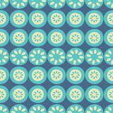 Wektorowego kwiatu lampasa błękitny i kremowy bezszwowy powtórka wzoru tło ilustracji