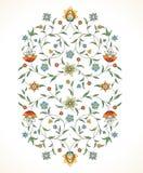 Wektorowego kwiecistego wystroju Wschodni styl ilustracja wektor