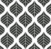 Wektorowego liścia wzoru tła Czarny I Biały ilustracja Fotografia Royalty Free