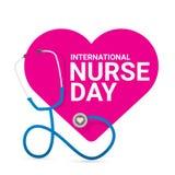 Wektorowego międzynarodowego pielęgniarka dnia wektorowa etykietka ilustracji