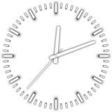 Wektorowy bielu zegar Zdjęcie Stock