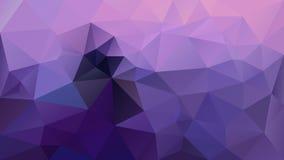 Wektorowego nieregularnego poligonalnego tło trójboka niskiego poli- wzoru - ultrafioletowe i lawendowe purpury barwią ilustracja wektor