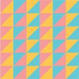 Wektorowego nowożytnego colourful pastelowego geometria trójboka wzoru abstrakcjonistyczny bezszwowy tło ilustracja wektor