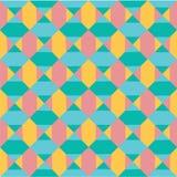 Wektorowego nowożytnego colourful pastelowego geometria wzoru abstrakcjonistyczny bezszwowy tło, retro tekstura ilustracja wektor