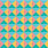 Wektorowego nowożytnego colourful pastelowego geometria wzoru abstrakcjonistyczny bezszwowy tło, retro tekstura royalty ilustracja