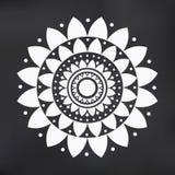 Wektorowego Płaskiego projekta mandala ilustraci Lotosowy symbol Obraz Stock