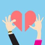 Wektorowego pojęcia kobiet i mężczyzna kierowy widok daje miłości ilustracja wektor