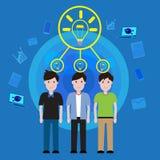 Wektorowego pojęcia pracy zespołowej Biznesowy brainstorming ilustracji
