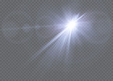 Wektorowego przejrzystego światło słoneczne obiektywu specjalnego racy lekki skutek Zdjęcie Royalty Free