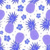 Wektorowego rocznika ananasowy bezszwowy wzór Zdjęcia Royalty Free