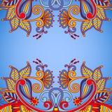 Wektorowego rocznika ornamentacyjny tło Zdjęcia Royalty Free