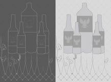 Wektorowego rocznika piwna butelka Fotografia Royalty Free