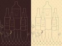Wektorowego rocznika piwna butelka Zdjęcia Royalty Free