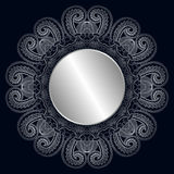 Wektorowego rocznika round różyczka Zdjęcie Stock